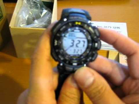 Casio Triple Sensor Solar Powered Pathfinder Men's Watch PAG-240B-2 unboxing and review