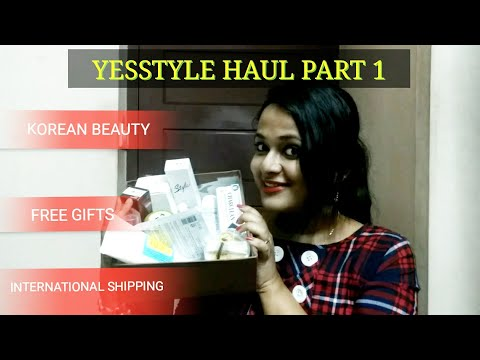 YESSTYLE HAUL PART 1  Korean Beauty  Discount Code  Free gifts   International shipping   Part 1