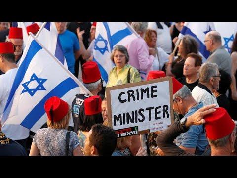 Μεγάλη διαδήλωση κατά του Μπέντζαμιν Νετανιάχου