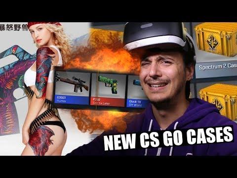 CS GO SPECTRUM 2 CASE OPENING!!! (MY BEST EVER + VR UNBOXING?!?)