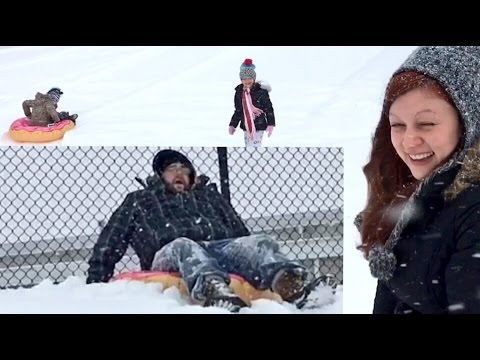 FAT MAN FACE PLANTS! FAMILY SNOW TUBING EPIC FAILS! HEEL WIFE ROASTS GRIM!