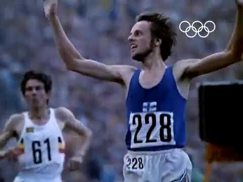 Lasse Virén takes 10,000m Olympic Gold   Munich 1972 Olympics