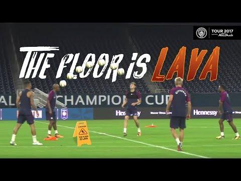 Video: THE FLOOR IS LAVA - MAN CITY KEEPY UP CHALLENGE! | Preseason Training