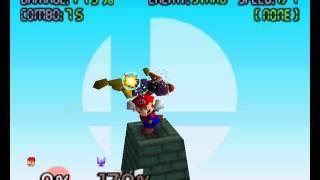 Mario 99 Hit Combo — Fire Tornado