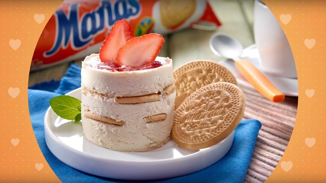 Receta de Mousse de Fresa con galletas Marias Gamesa®