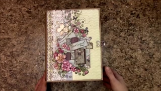 Free step by step mini album scrapbook album tutorial on how to make this 7 x 9