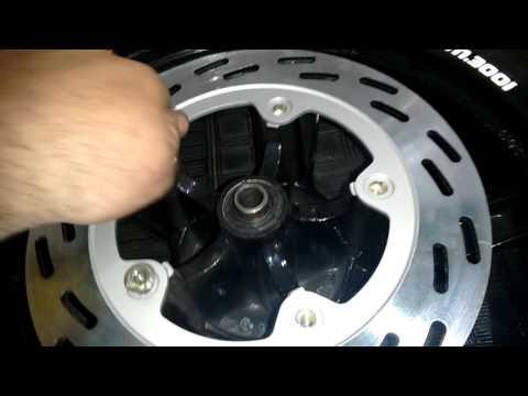 Troca disco de freio dianteiro Dafra Citycom 300i