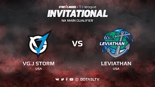 VG.J Storm против Leviathan, Первая карта, NA квалификация SL i-League Invitational S3