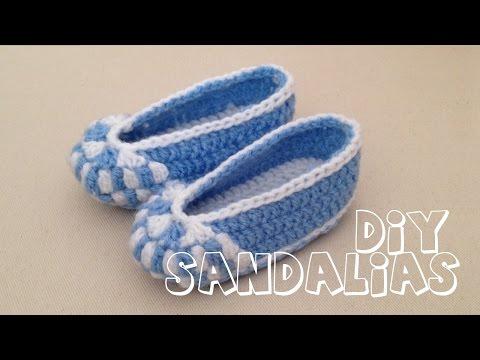 Cómo tejer zapatitos sandalias para bebé en crochet