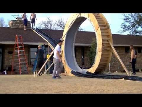 12 Foot Tall Slip N  Slide With a Massive Loop