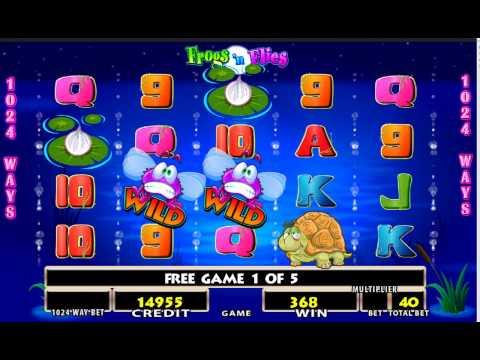 Frogs 'n Flies - Slot machine game by Lighting Box Games