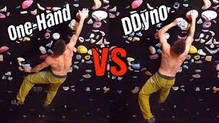 One-Hand or Double Dyno? Analytic Bouldering by Mani the Monkey