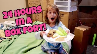 Video 24 HOURS IN A BOX FORT | HomeSchool Lazy Day Routine MP3, 3GP, MP4, WEBM, AVI, FLV Januari 2018