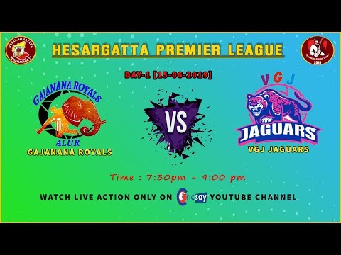 || Hesaraghatta Premier League || DAY-1 || Srushti V/s Kittanahalli Kings ||