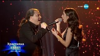 Hristiana Loizu & Atanas Penev - Time To Say Goodbye (On The X-Factor Bulgaria) (Live) music video