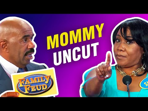 "MOMMY! (UNCUT) Steve Harvey says ""I QUIT!"" on Family Feud!"