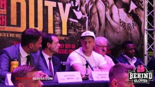Dillan Whyte Rants at Anthony Joshua in Press Conference