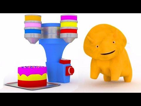Lerne Farben mir einem Geburtstagskuchen und Dino dem Dinosaurier 🦕🎨 (видео)