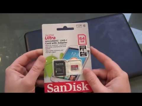 SanDisk Ultra 64GB microSD Karte Unboxing und kurzer Test