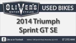 9. Oliver's Used Bikes Video Review, 2014 Triumph Sprint GT SE