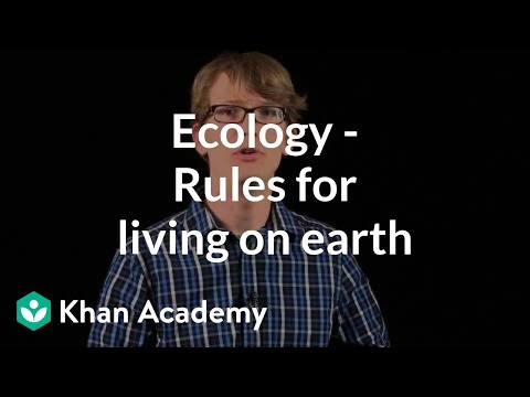 Ecology Rules For Living On Earth Video Khan Academy