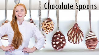 Chocolate Covered Coffee Spoons - YouTube