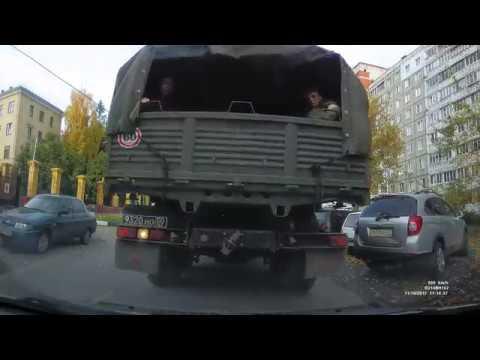 Берегись военного шофера!