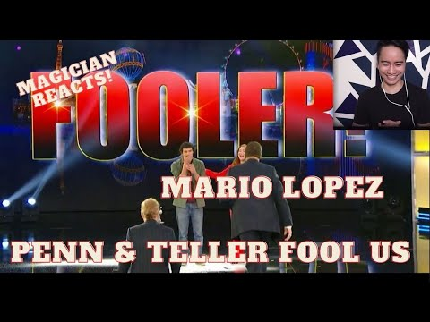 Magician Reacts to Mario Lopez on Penn & Teller Fool Us  | Fooled by Salt or Nipple?