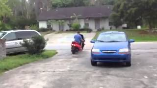 5. 2004 Honda Reflex Scooter Test Drive starting up and driving