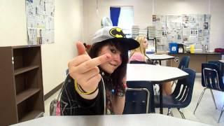 Emo girl at school