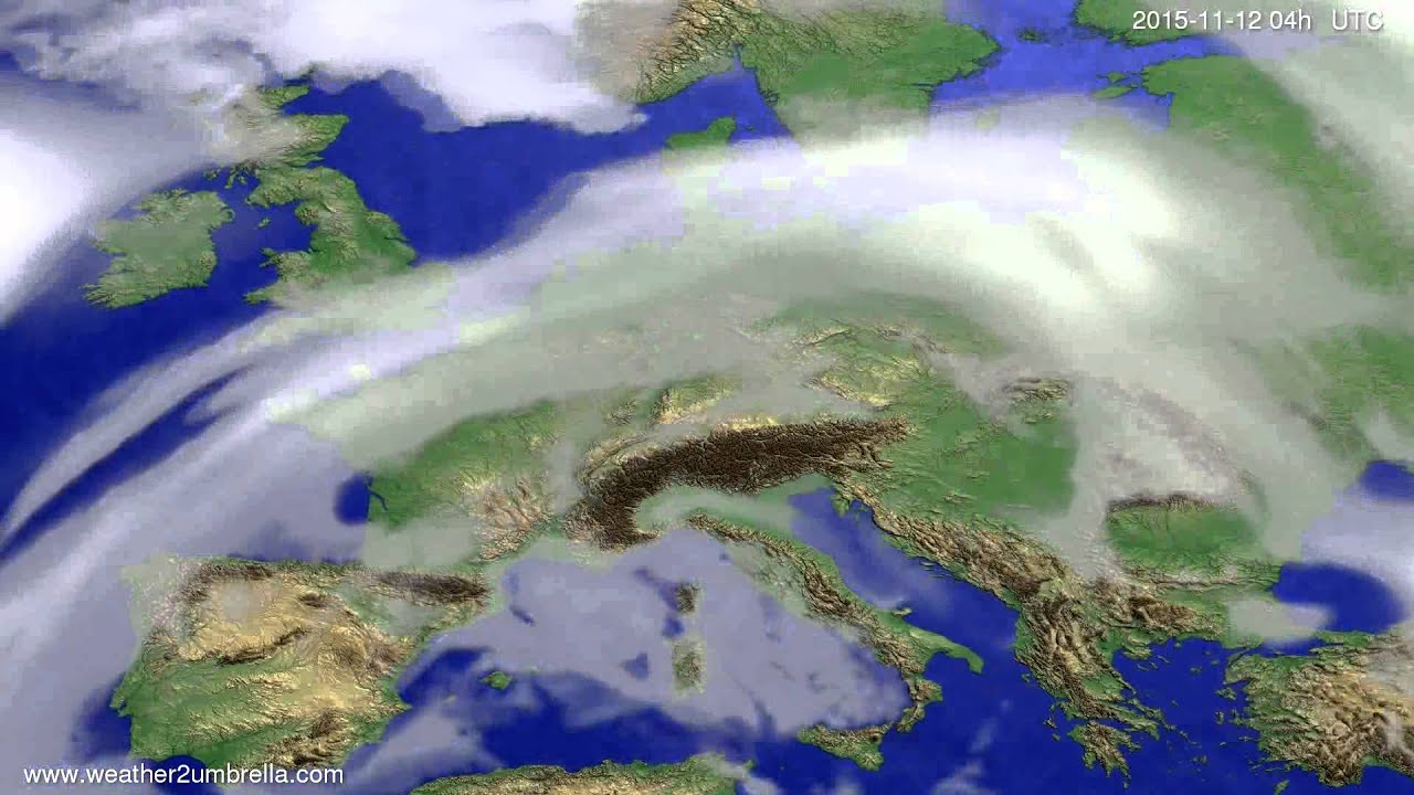 Cloud forecast Europe 2015-11-08