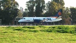 Aeroparque  14811  Saab 340  Sol Lineas Aereas  Take Off