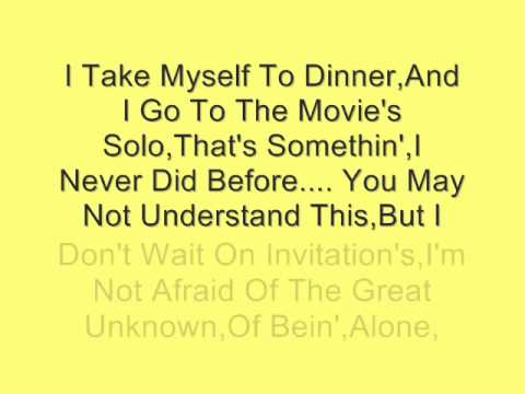 Reba McEntire-Myself Without You (Lyrics)