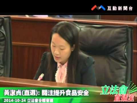 黃潔貞20141024立法會全體會議
