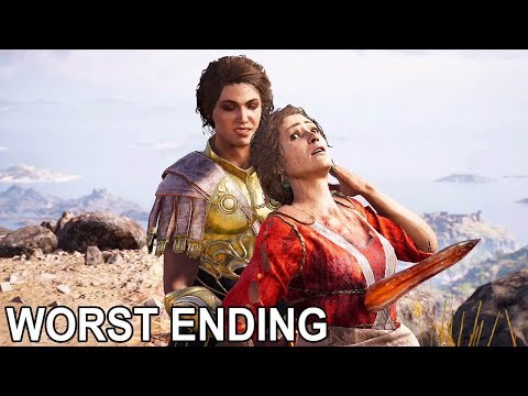 ASSASSIN'S CREED ODYSSEY - 3rd Family ENDING Demios Kills Myrrine (NEW) @ 1440p ✔