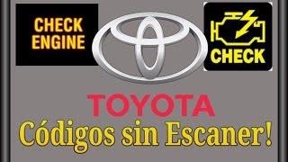 Codigos sin escaner Toyota