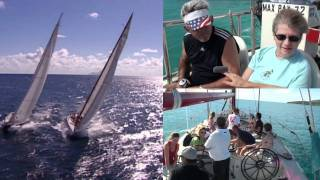 12 Metre Regatta, in the Caribbean. Americas Cup Boats in St Maarten and Cozumel.
