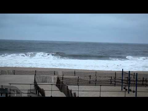 0 Belmar beach rough ocean today HD video 