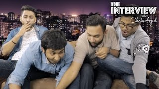 Gaan Friendz takes over the show The Interview w ChotoAzad