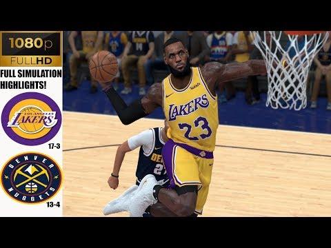 LA Lakers vs Denver Nuggets - Full Game Highlights! Dec 3, 2019 NBA Season   NBA 2K20