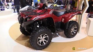 10. 2016 Yamaha Grizzly 700 EPS SE Recreational ATV - Walkaround - 2015 Salon de la Moto Paris