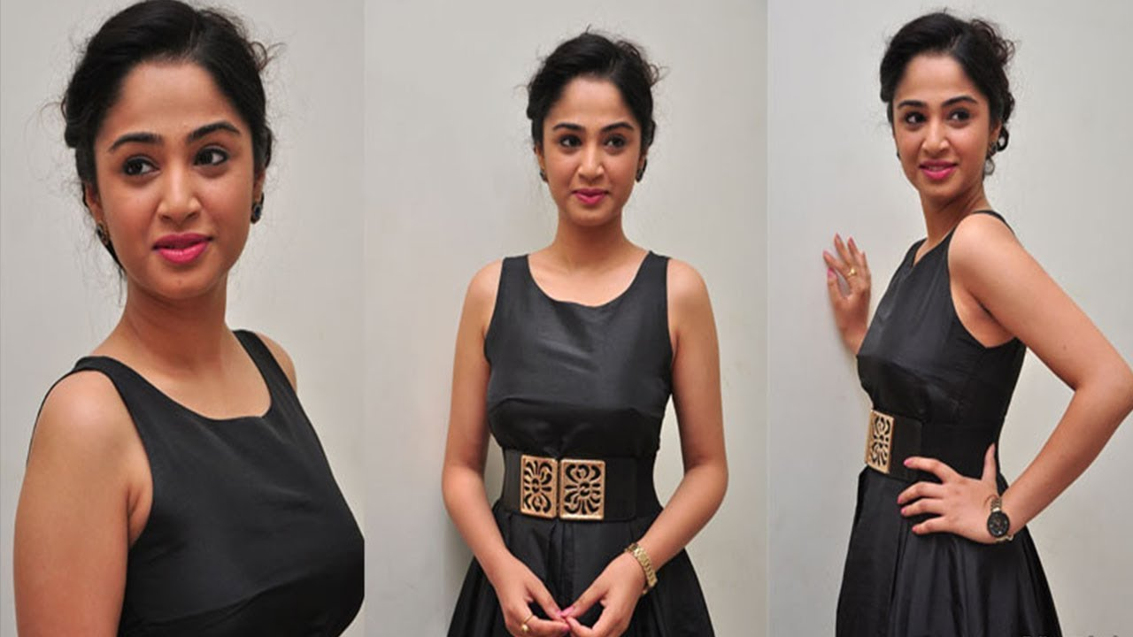 Actress Nikitha Latest HOT Sleevless Hd Photos in Black Dress