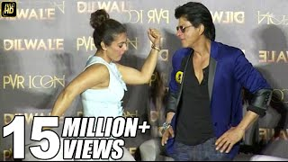 Shahrukh Khan & Kajol's FUNNY Poses At Dilwale Manma Emotion Jaage Song Launch