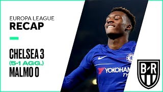 Chelsea 3-0 Malmo (5-1 agg.): Europa League Recap with Highlights, Goals and Best Moments