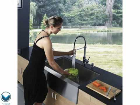 Video for 30-Inch Farmhouse Stainless Steel 16 Gauge Single Bowl Kitchen Sink