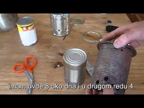 Kako napraviti kampersku  pec stove na drva