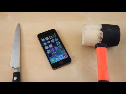 scratch - iPhone 5s Hammer Crush & Knife Scratch Test Subscribe for more iPhone 5S & iPhone 5C Destruction: http://smrt.so/UOhfly This is a video testing the durabilit...