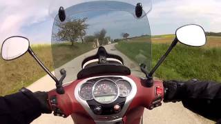 8. Piaggio Beverly 350 Sport Touring onboard - leisure ride