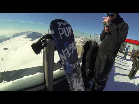 Slovakia Jasna Mountai Snowboarding Skiing Extreme 2017 (видео)