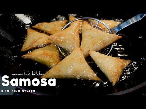 How to make Samosa  I step by step  3 ways to folding/ wrapping  samosa